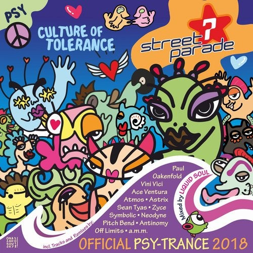 Street Parade 2018 Official Psy-Trance (Mixed by Liquid Soul) (Culture of Tolerance)