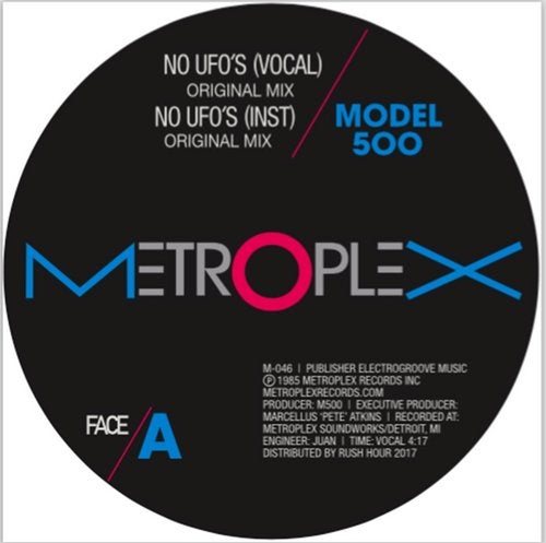 NO UFO's (feat. Juan Atkins) [Remixes by Moodymann and Luciano]