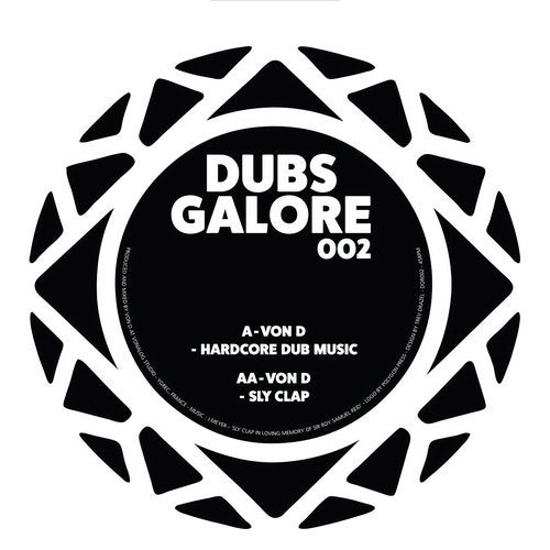 Von D - Hardcore Dub Music / Sly Clap [EP] 2018
