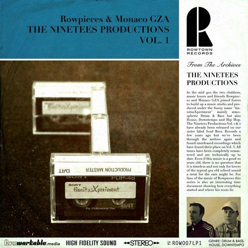 Monaco Gza & Rowpieces - The Ninetees Productions Vol. 1 [LP] 2019
