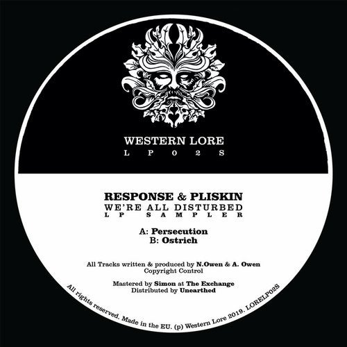 Response & Pliskin - We're All Disturbed (LP Sampler) 2019 [EP]